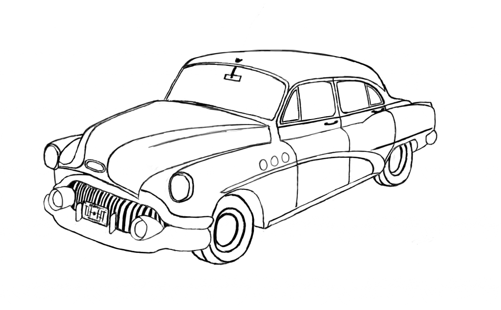 Line Drawing Car : Mini cooper coloring pages