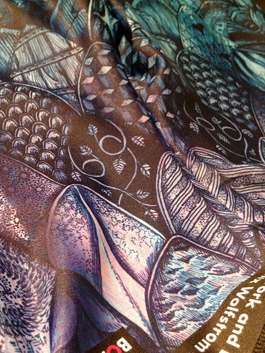 Closeup of FreestyleScales fabric.